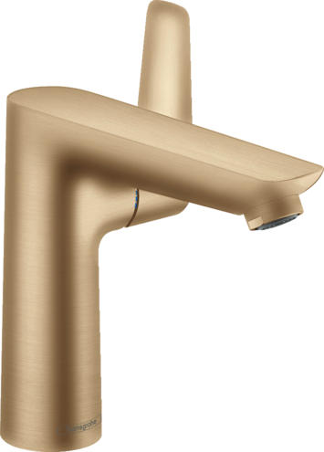 Mitigeur de lavabo Hansgrohe Talis E 150 avec tirette et vidage en bronze brossé