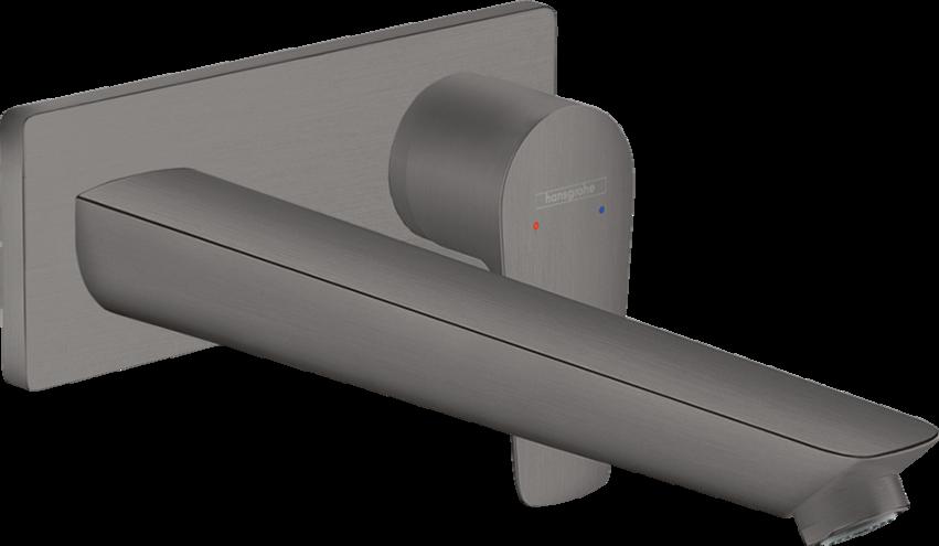 Mitigeur de lavabo encastré Hansgrohe Talis E 225 mm en noir chromé brossé