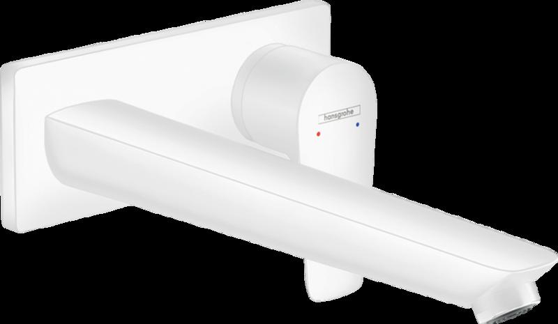 Mitigeur de lavabo encastré Hansgrohe Talis E 225 mm en blanc mat