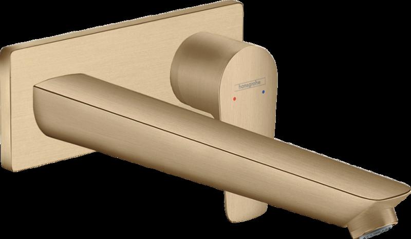 Mitigeur de lavabo encastré Hansgrohe Talis E 225 mm en bronze brossé
