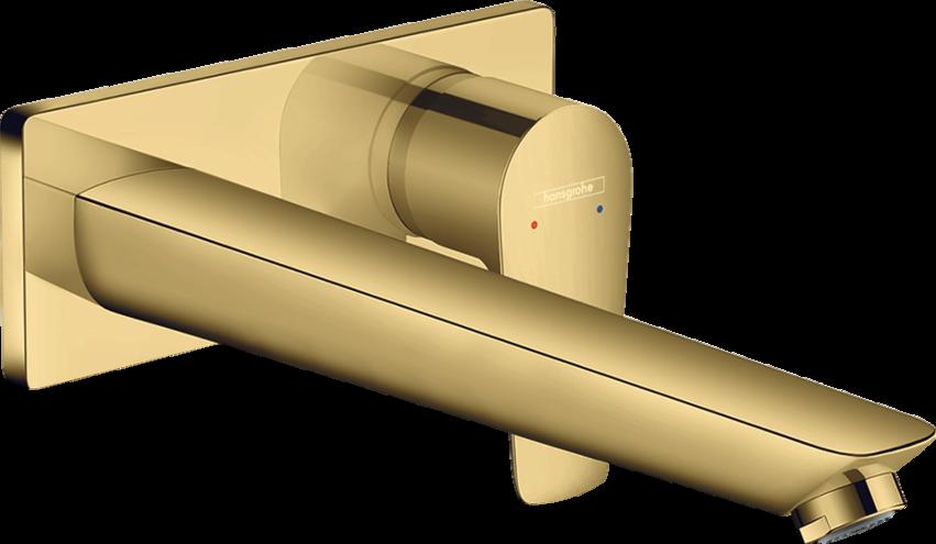 Mitigeur de lavabo encastré Hansgrohe Talis E 225 mm aspect doré poli