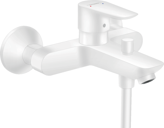 Mitigeur de bain / douche Hansgrohe Talis E en blanc mat