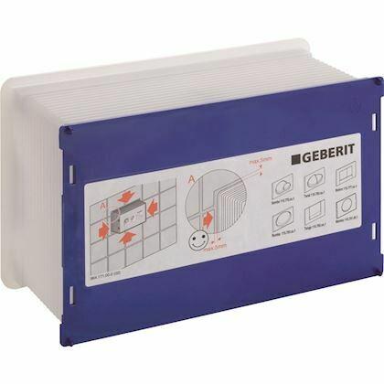 Boîtier de réservation Geberit pour réservoir à encastrer Sigma 8 cm et Sigma 12 cm
