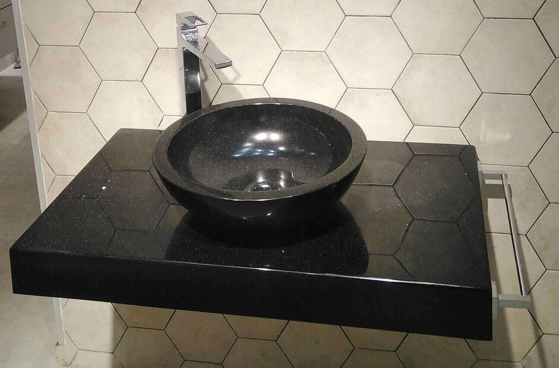 Plan Stone 120 cm granité noir