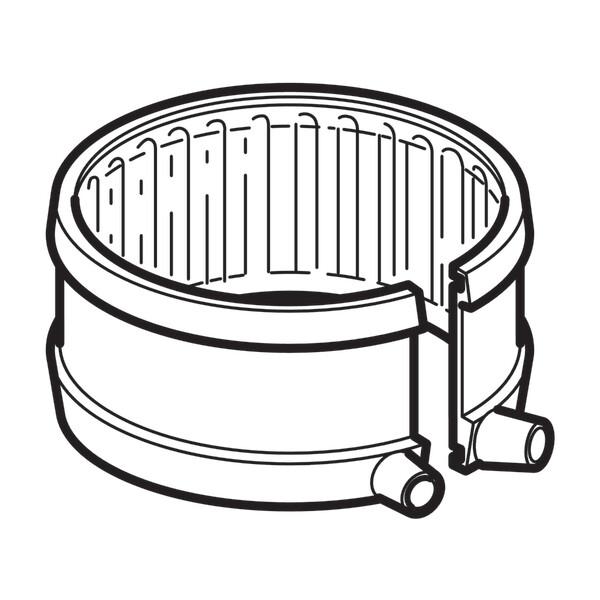 Bande à souder électrique Geberit pour point fixe : d=110mm, d1=118mm