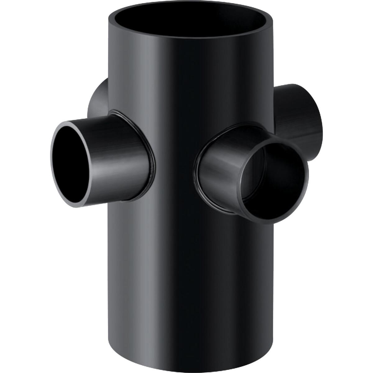 Embranchement 88.5° Geberit PEHD à quatre départs : d=110mm, d1=56mm