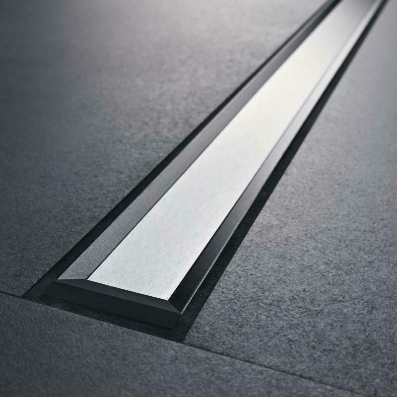 Set de finition Geberit CleanLine20 - Noir / Métal brossé - Longueur 30 - 90 cm