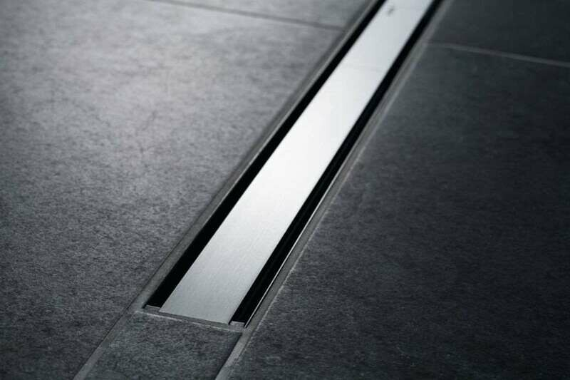 Set de finition Geberit CleanLine60 - Noir / Métal brossé - Longueur 30 - 90 cm