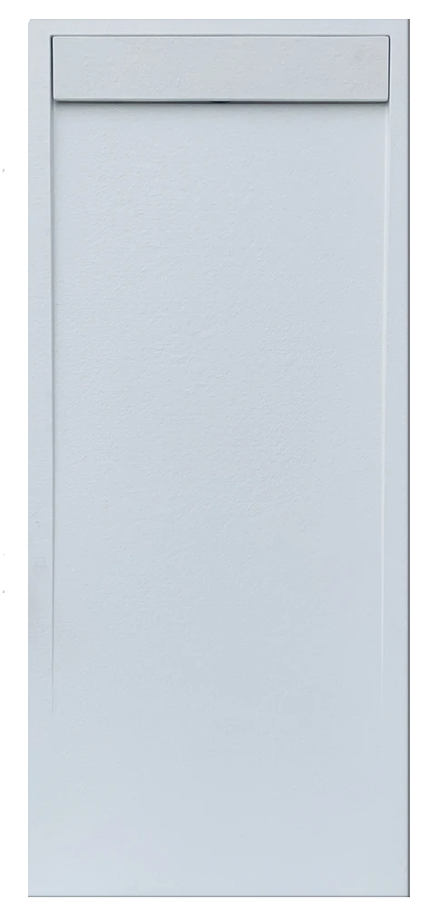 Receveur de douche rectangulaire Galaxite extra-plat  et anti-dérapant (150 à 180 cm) x 80 cm avec grille design en Marbryx® et vidage