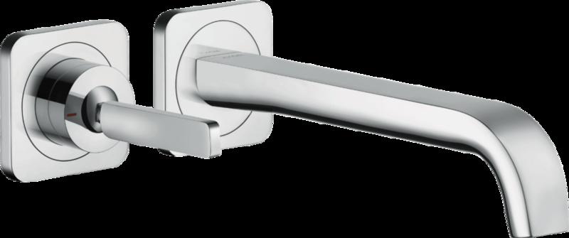 Mitigeur de lavabo encastré AXOR Citterio E 221 mm en laiton chromé