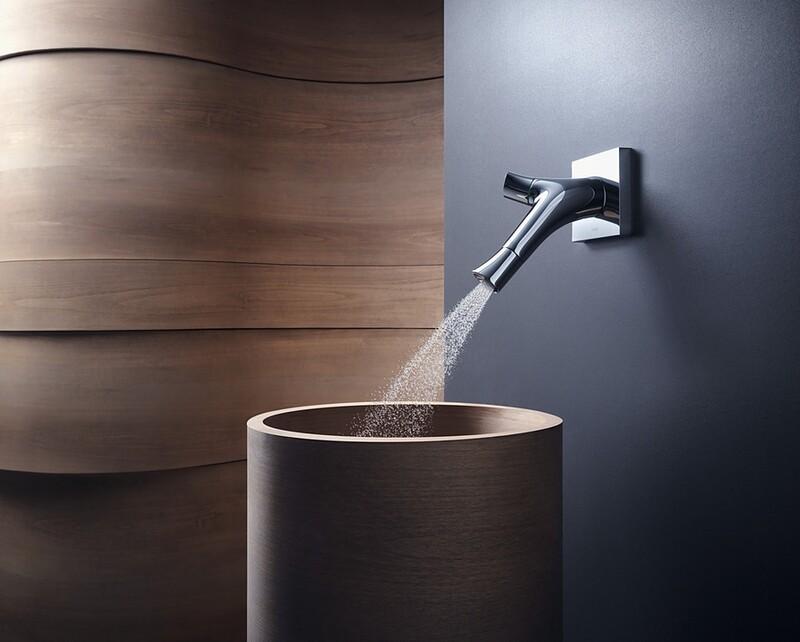Mitigeur de lavabo encastré AXOR Starck Organic 187 mm en Or rouge brossé