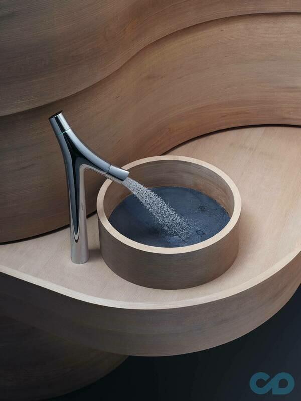 Mitigeur de lavabo AXOR Starck Organic 240 pour vasque libre avec bonde à écoulement libre