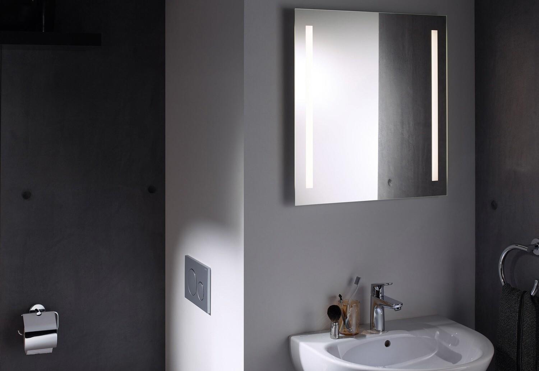 Miroir lumineux Geberit Option Basic 60 cm avec éclairage latéral