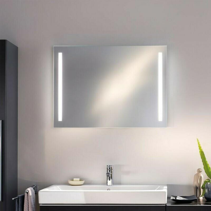 Miroir lumineux Geberit Option Basic 90 cm avec éclairage latéral