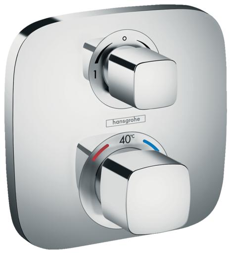 Set de finition pour mitigeur thermostatique encastré avec robinet d'arrêt et inverseur Hansgrohe Ecostat E