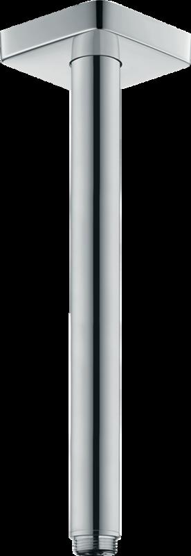 Bras de douche plafonné Hansgrohe 300 mm avec rosace carrée