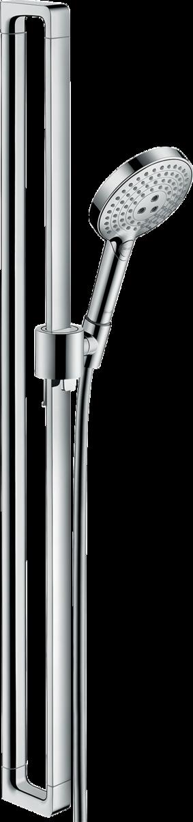 Barre de douche AXOR Citterio E avec douchette à main 120 3 jets, flexible 1,6 m et curseur Unica E / Citterio E