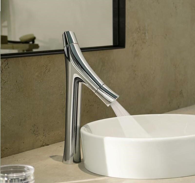 Mitigeur de lavabo AXOR Starck Organic 80 avec tirette et vidage