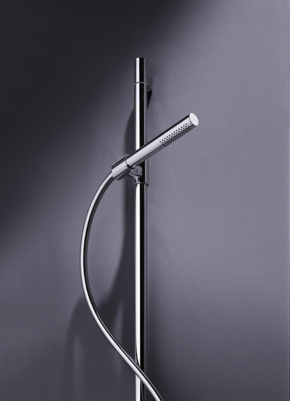 Barre de douche AXOR Starck avec douchette à main tube 1 jet, curseur et flexible