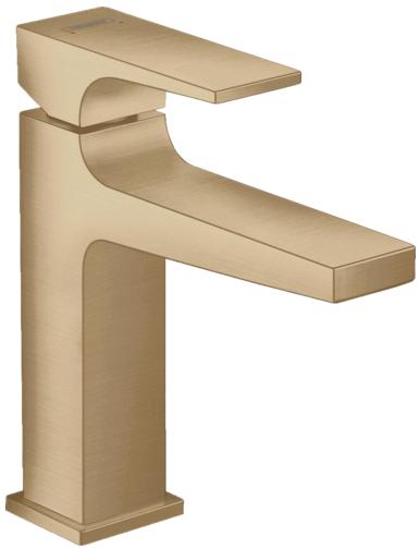 Mitigeur de lavabo Hansgrohe Metropol 110 en bronze brossé avec bonde Push-Open