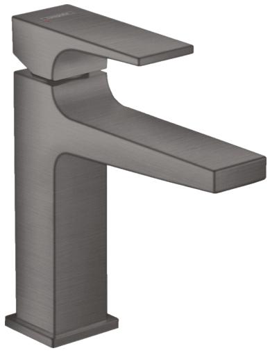 Mitigeur de lavabo Hansgrohe Metropol 110 en noir chromé brossé avec bonde Push-Open