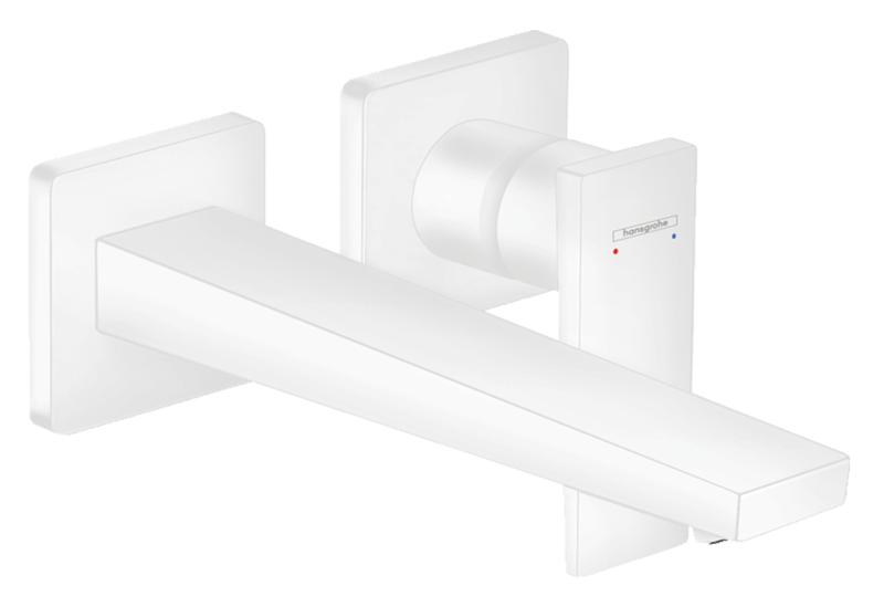 Mitigeur de lavabo encastré Hansgrohe Metropol 225 mm en blanc mat