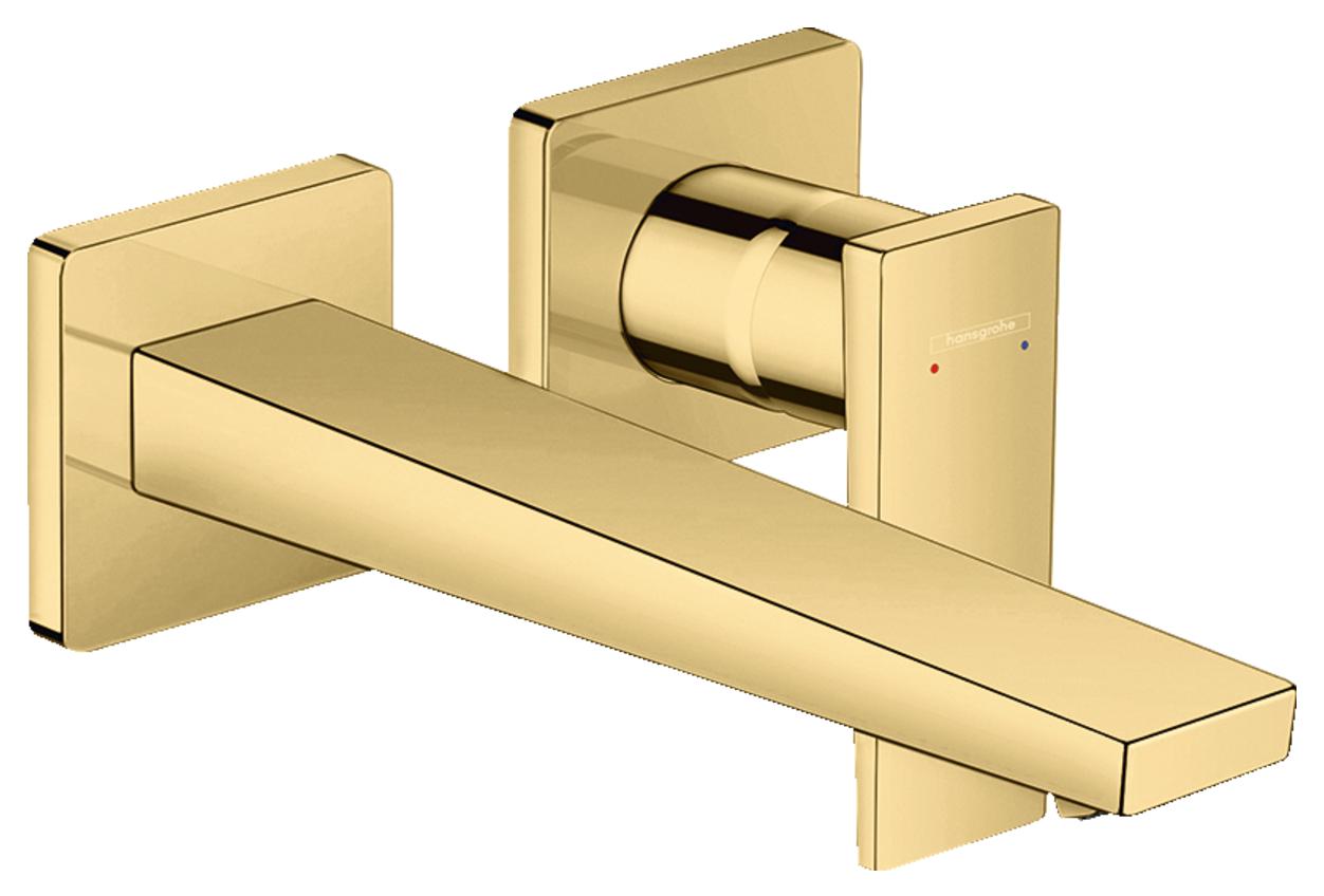Mitigeur de lavabo encastré Hansgrohe Metropol 225 mm aspect doré poli