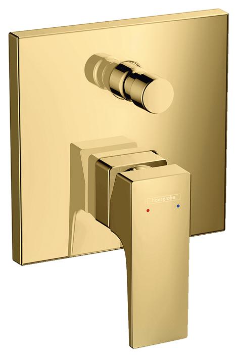Set de finition pour mitigeur bain / douche encastré Hansgrohe Metropol aspect doré poli