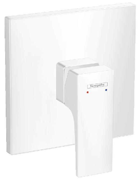 Set de finition pour mitigeur de douche encastré Hansgrohe Metropol en blanc mat