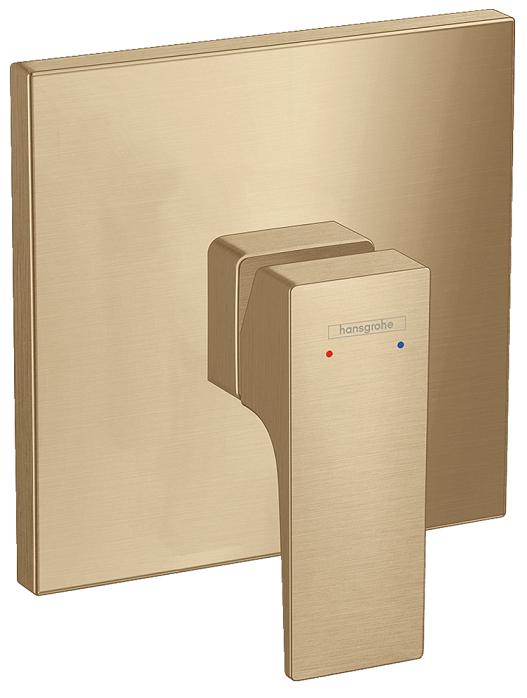 Set de finition pour mitigeur de douche encastré Hansgrohe Metropol en bronze brossé