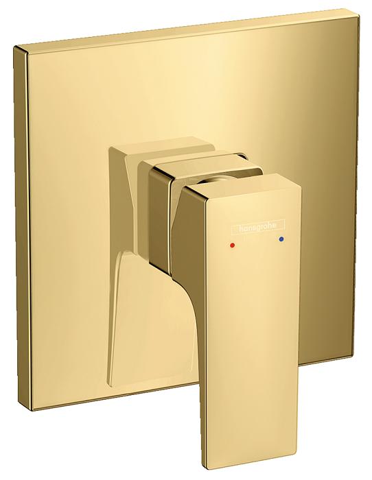 Set de finition pour mitigeur de douche encastré Hansgrohe Metropol aspect doré poli