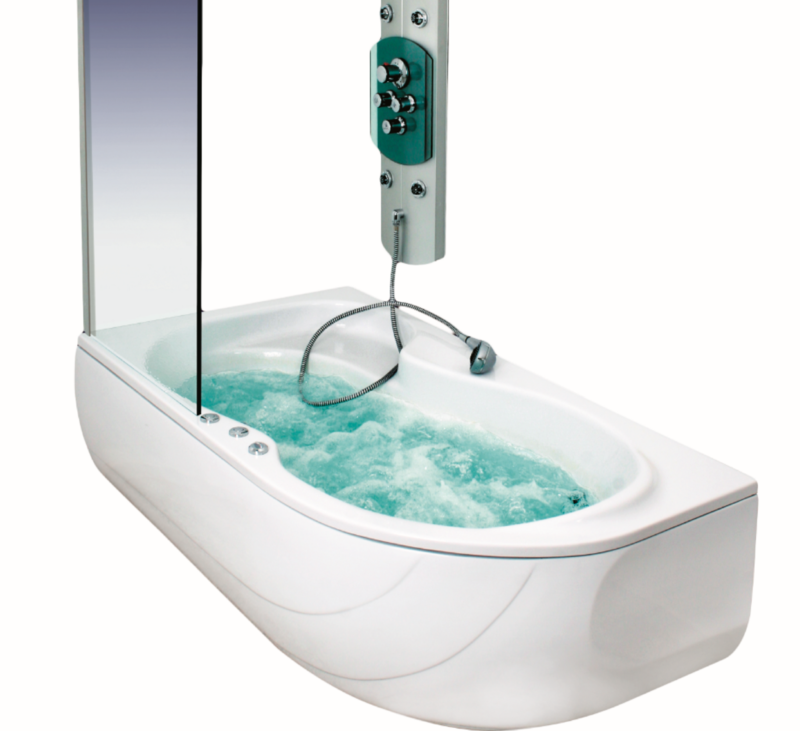 Baignoire Oasis gauche hydromassage simple 160 x 100 cm