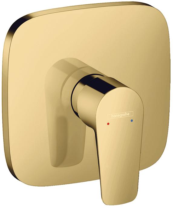 Set de finition pour mitigeur de douche encastré Hansgrohe Talis E aspect doré poli