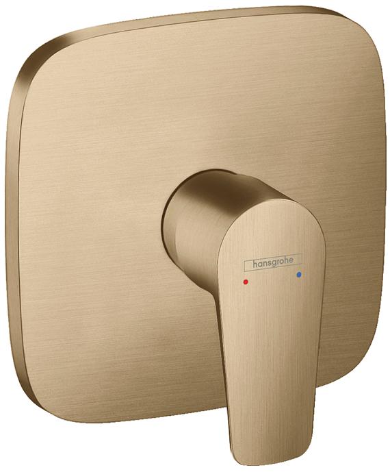 Set de finition pour mitigeur de douche encastré Hansgrohe Talis E en bronze brossé