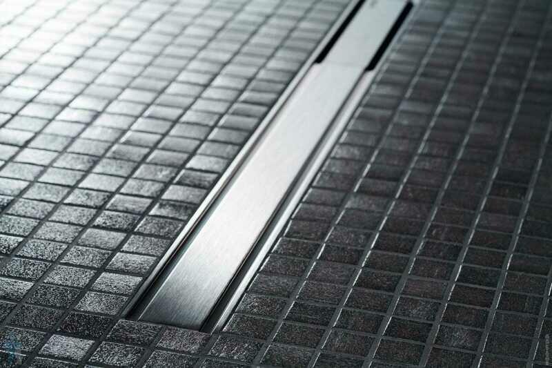 Set de finition Geberit CleanLine60 - Métal poli / Métal brossé - Longueur 30 - 130 cm