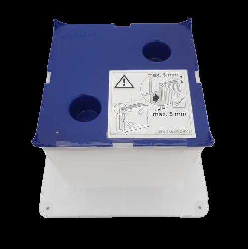 Boîtier de réservation Geberit pour trappe de visite pour urinoir à déclenchement électronique