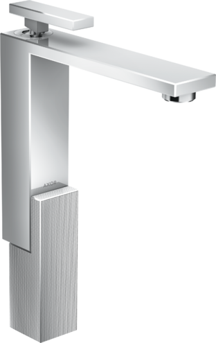 Mitigeur de lavabo AXOR Edge 280 avec bonde push-open coupe diamant