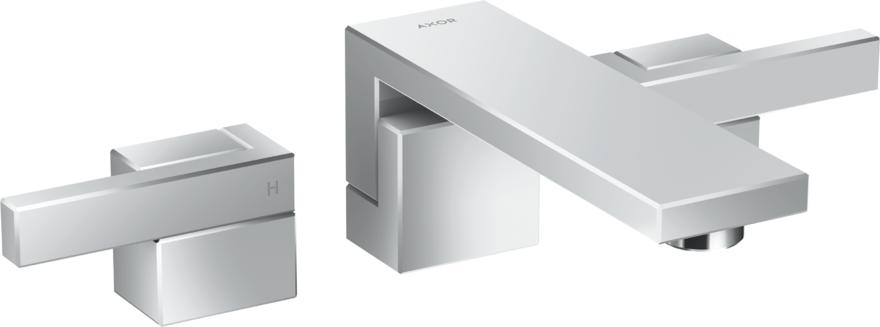 Mélangeur de lavabo 3 trous encastré AXOR Edge 190 mm avec bonde push-open