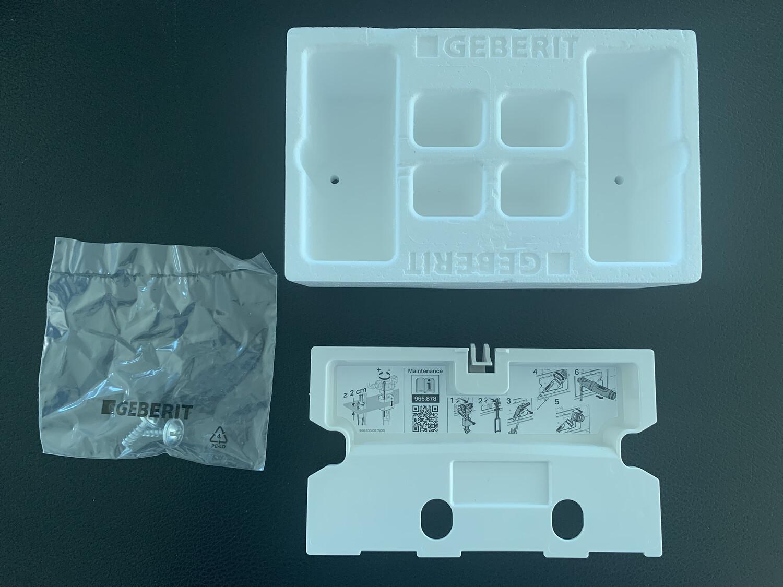 Boîtier de réservation avec plaque de protection pour réservoir à encastrer Alpha 8 cm