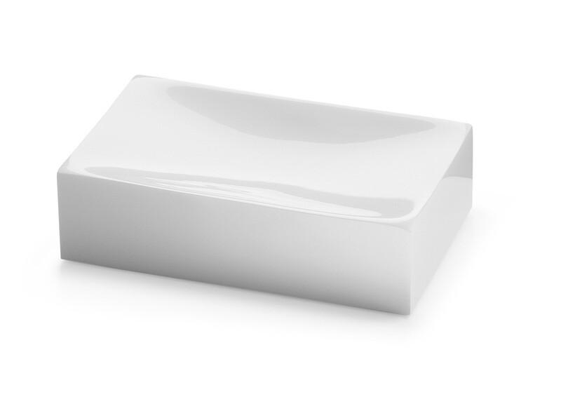 Porte-savon Sofia blanc brillant