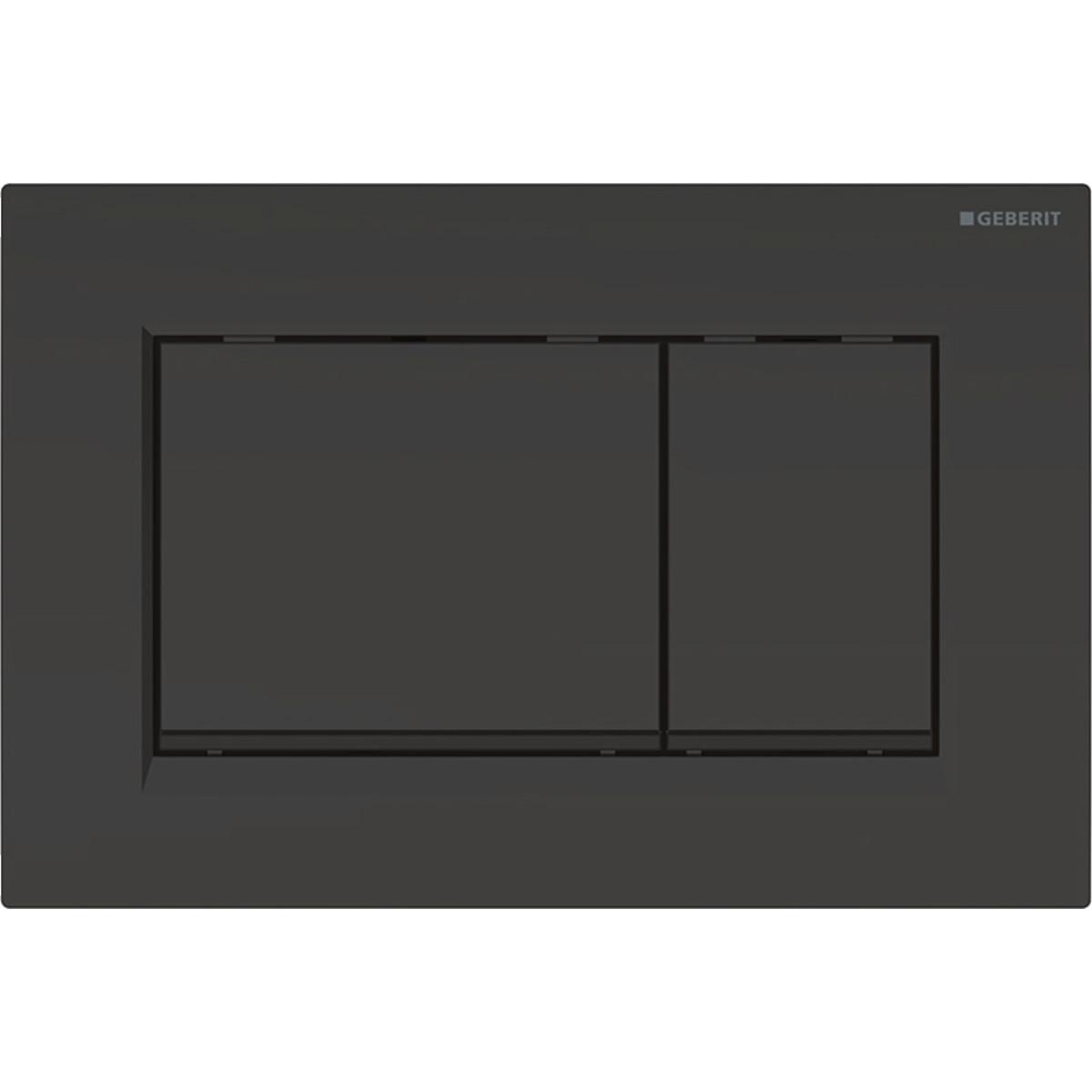 Plaque de déclenchement Geberit Sigma30 / Noir mat