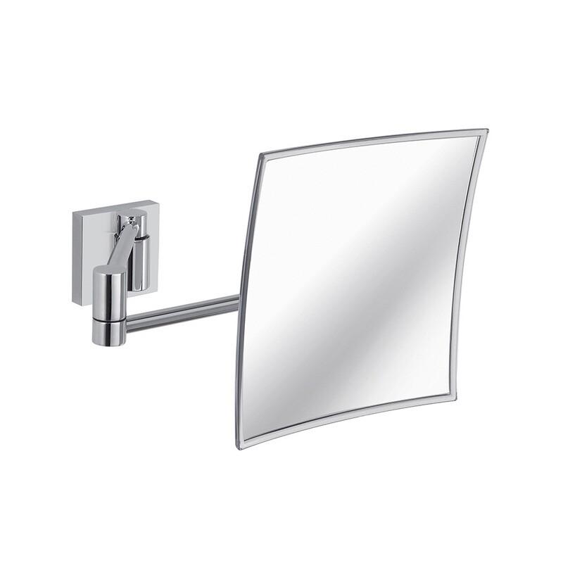 Miroir grandissant Maldive carré 44,3 cm chromé