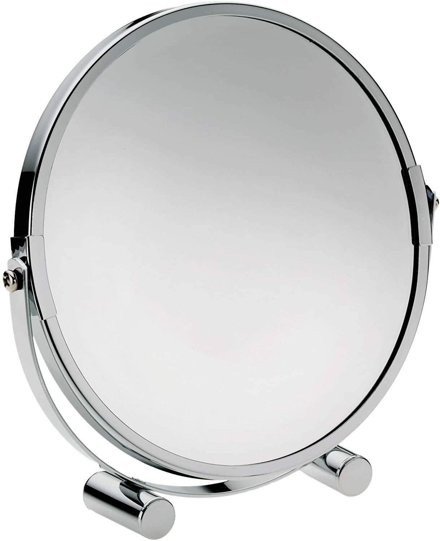 Miroir grandissant Monica rond 17,5 cm chromé
