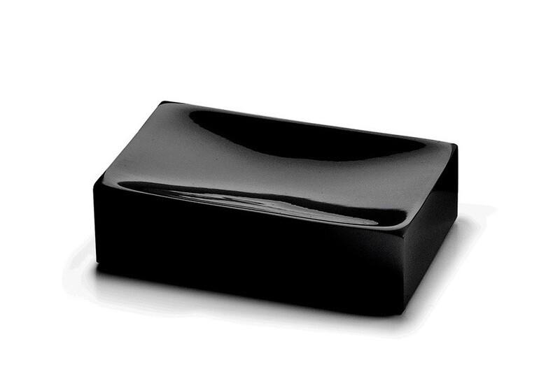 Porte-savon Sofia noir mat