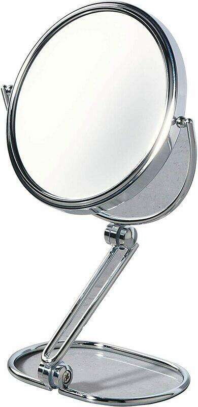 Miroir grandissant Beauty rond 20 cm chromé