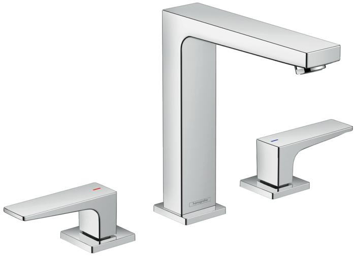 Mélangeur de lavabo 3 trous Hansgrohe Metropol 160 avec bonde Push-Open
