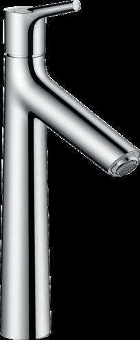 Mitigeur de lavabo Hansgrohe Talis S 190  en laiton chromé avec tirette et vidage