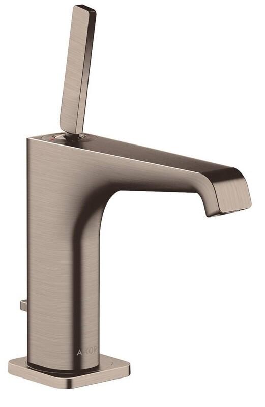 Mitigeur de lavabo AXOR Citterio E 130 avec tirette et vidage en nickel brossé