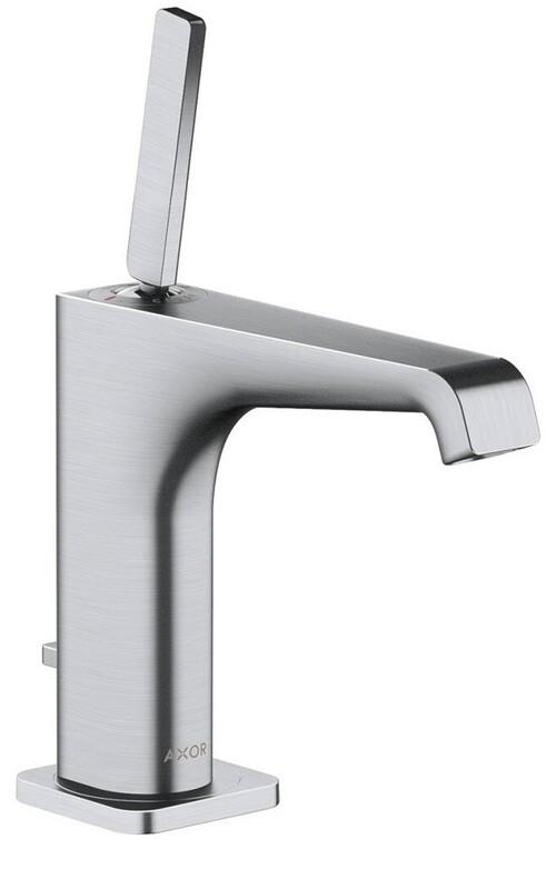 Mitigeur de lavabo AXOR Citterio E 130 avec tirette et vidage en chromé brossé