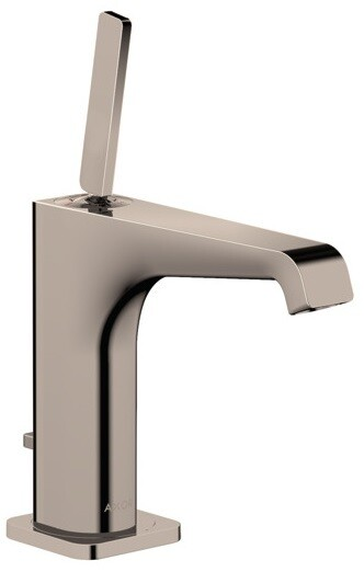 Mitigeur de lavabo AXOR Citterio E 130 avec tirette et vidage en nickel poli